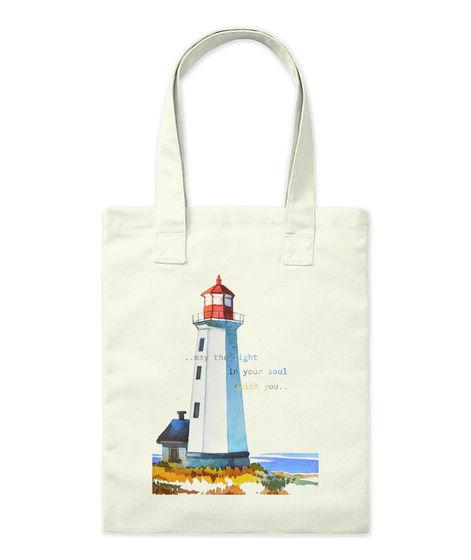 """""""Lighthouse"""" Designed By Таня Божкова Natural T-Shirt Front"""