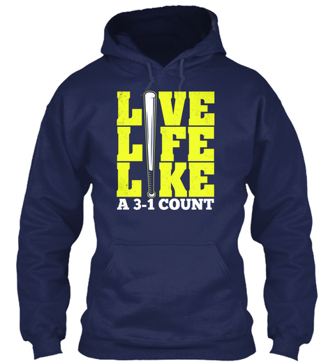 Live Life Like A 3 1 Count Navy T-Shirt Front