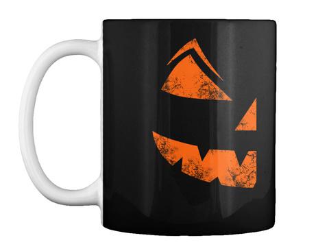 Halloween Pumkin Mug Gift Black T-Shirt Front