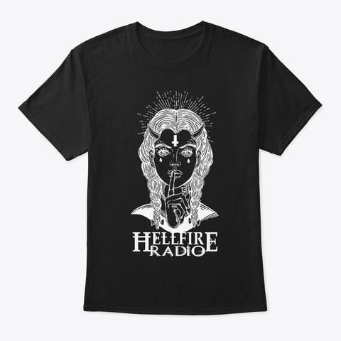 Hellfire Radio Demoness Black T-Shirt Front