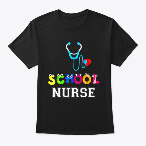 Funny Elementary And Middle School Nurse Black T-Shirt Front