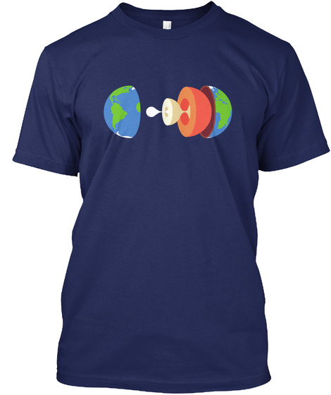 Layers Earth H [Usa] #Sfsf Midnight Navy T-Shirt Front