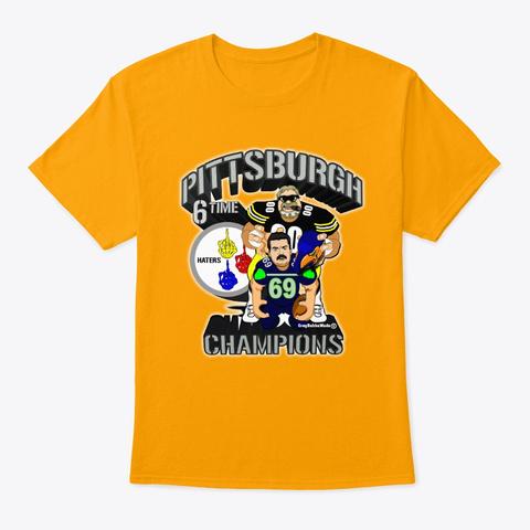 6 Burgh  Gold T-Shirt Front
