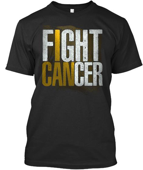 Childhood Cancer Awareness: I Can Black T-Shirt Front