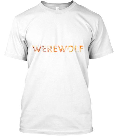 Werewolf White T-Shirt Front