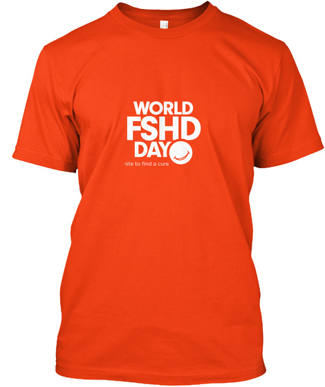 World Fshd Day Deep Orange  T-Shirt Front