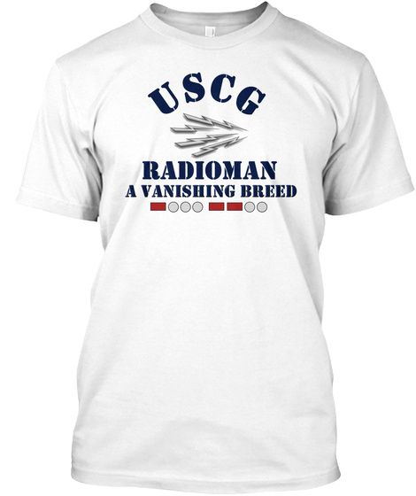 Radioman A Vanishing Breed T Shirt White T-Shirt Front