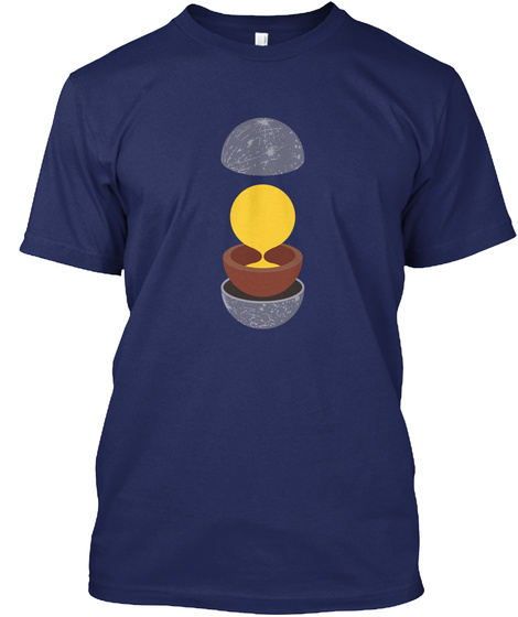 Layers Mercury V [Usa] #Sfsf Midnight Navy T-Shirt Front