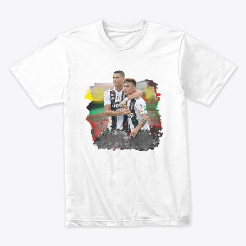 Ronaldo1 Dybala1 White T-Shirt Front