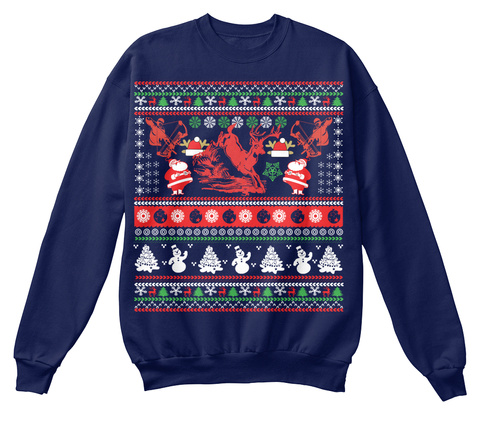 Deer hunter ugly christmas sweater products from hunting for Fishing christmas sweater