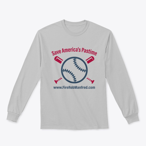 Save America's Pastime Sport Grey T-Shirt Front