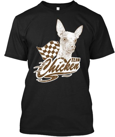 Team Chicken  Black Maglietta Front