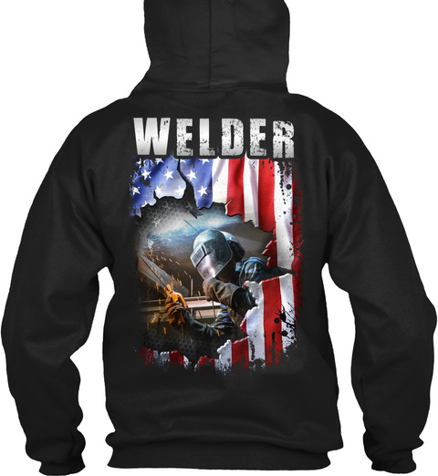 Welder Black T-Shirt Back