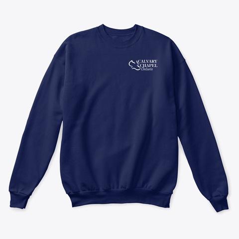 Classic Crewneck Sweatshirt Navy  T-Shirt Front