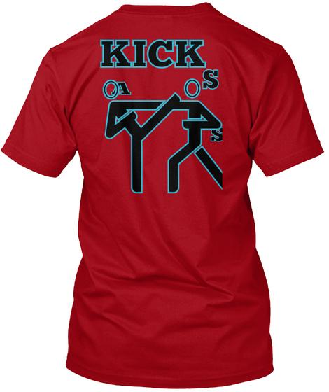Kick S A S Deep Red T-Shirt Back