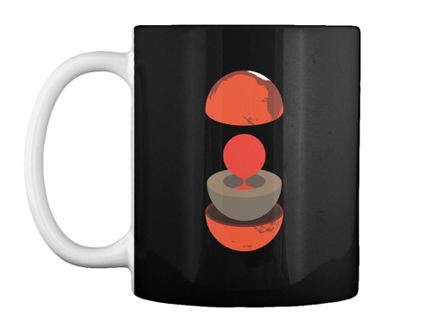 Layers Mars Mug V [Usa] #Sfsf Black Mug Front