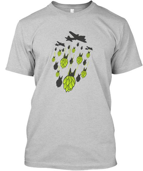 Hop Bomber Craft Beer Light Steel T-Shirt Front