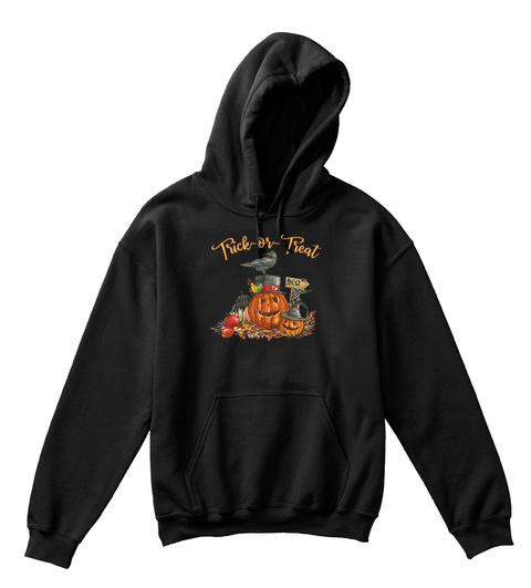 Kids Halloween Pumpkin Crow Black T-Shirt Front