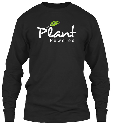 Plant Powered Black T-Shirt Front