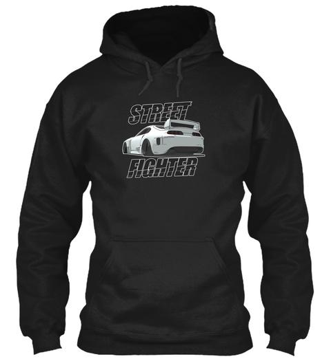 Street Fighter Black Sweatshirt Front