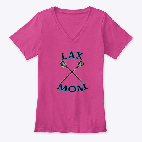 Lax Mom Berry T-Shirt Front