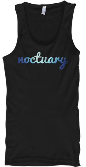 Noctuary Black Tank Top Front
