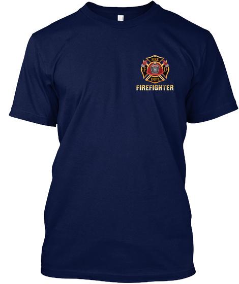 F Fire D Dept Firefighter Navy T-Shirt Front