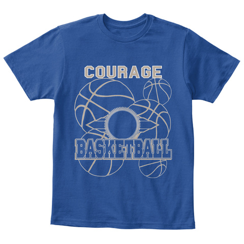 Courage Basketball Deep Royal  T-Shirt Front