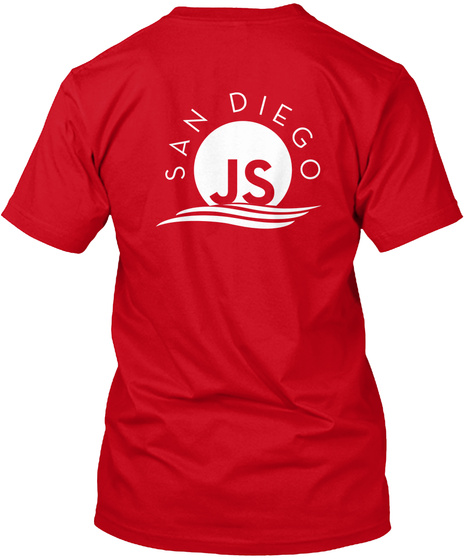 San Diego Js Red T-Shirt Back
