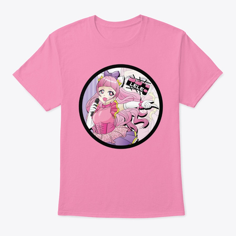 Le Le Circle Kitty Pink T-Shirt Front