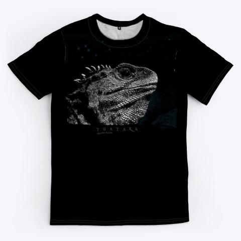 Tuatara, Stephens Island, New Zealand  Black T-Shirt Front