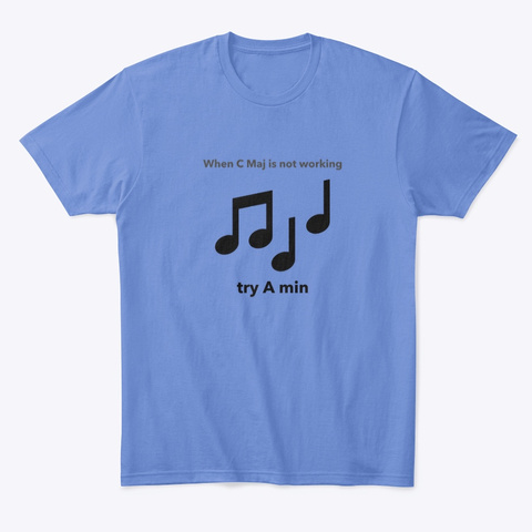 Try A Minor  Funny T Shirt Heathered Royal  T-Shirt Front