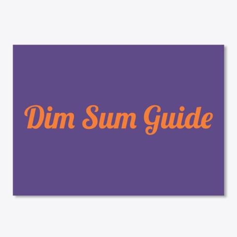 Dim Sum Guide Purple T-Shirt Front