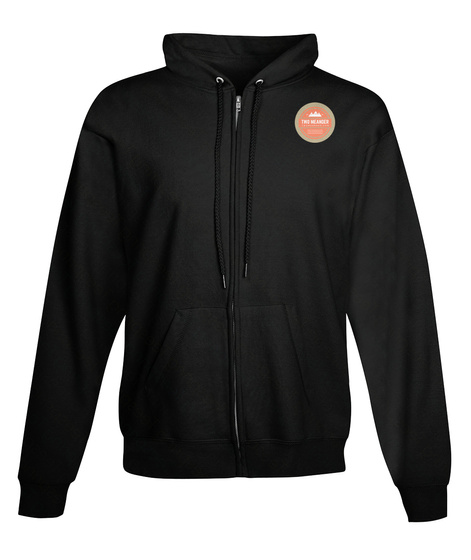 Two Meander Zip Hoodie Black Sweatshirt Front