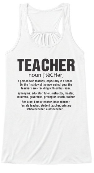 Super Teacher T Shirt   Tank Top White T-Shirt Front
