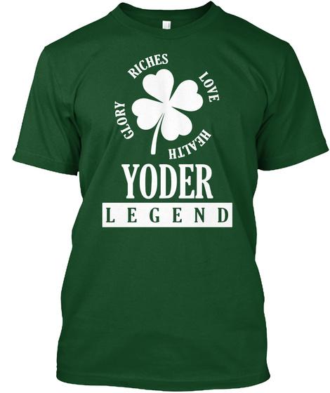 Kiss Me Yoder Legend Deep Forest T-Shirt Front