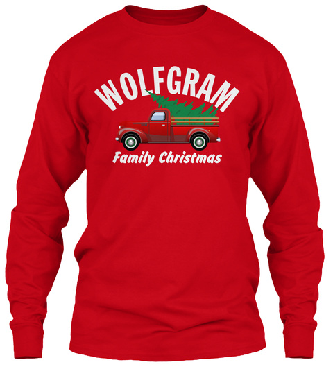 Wolfgram Family Christmas Red T-Shirt Front