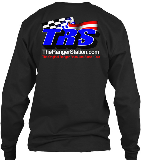 The Ranger Station.Com The Original Ranger Resource Since 1999 Black T-Shirt Back