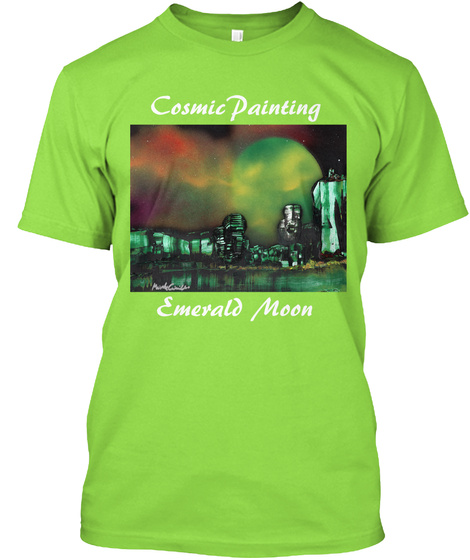 Emerald Moon Lime T-Shirt Front