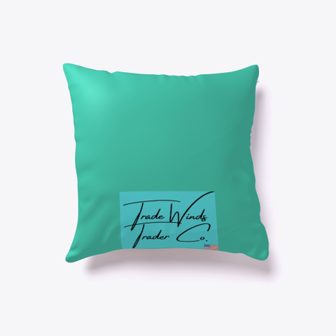Paradise Pillow Collection   Flamingos Aqua T-Shirt Back
