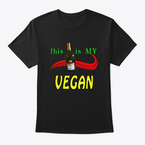 Rum Is My Vegan Black T-Shirt Front
