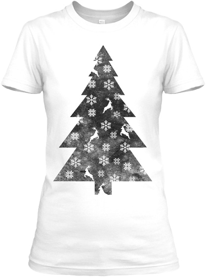 Merry Christmas Women's Tee White T-Shirt Front