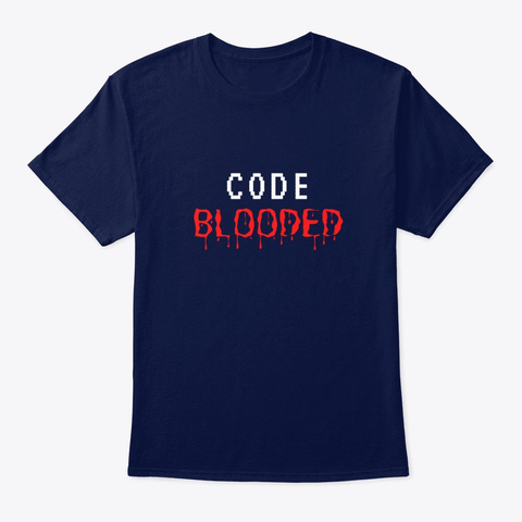 Code Blooded Navy T-Shirt Front