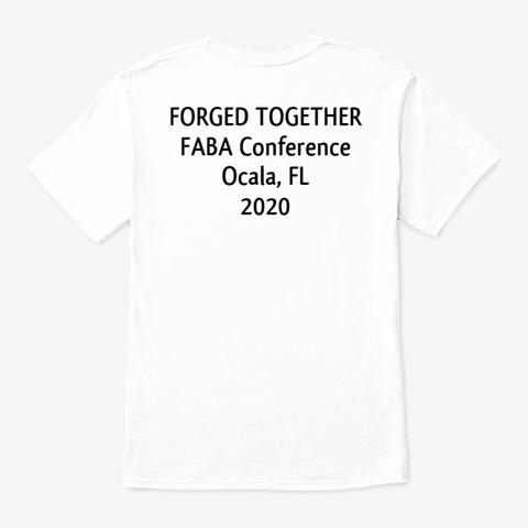Faba Conference 2020 Unisex Short Sleeve White T-Shirt Back