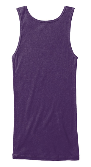 Total Bully   Queen Fitted Tank Purple T-Shirt Back