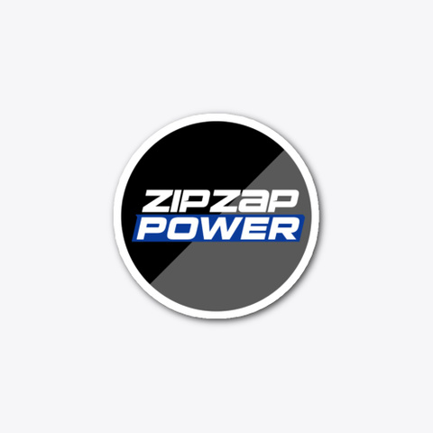 Zip Zap Power Logo Sticker Standard T-Shirt Front