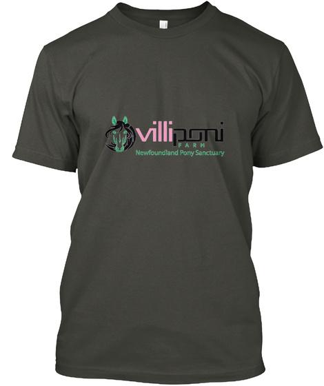 Villponi Farm Newfoundland Pony Sanctuary Smoke Gray T-Shirt Front