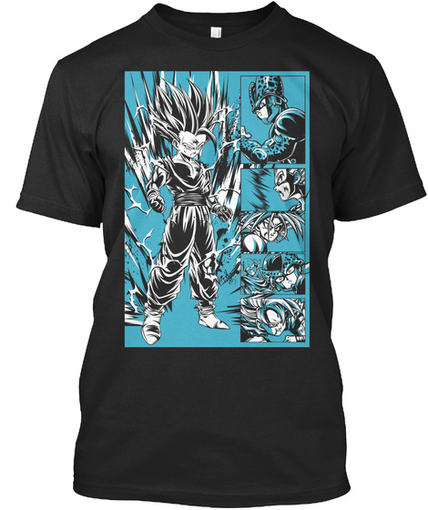 Saga Fighting Black T-Shirt Front