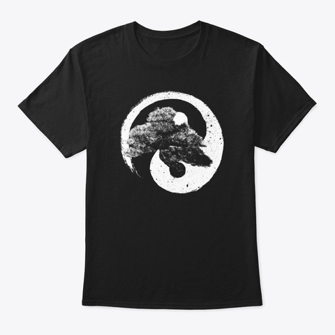 Yin Yang Bonsai Tree Buddhist Zen  Black T-Shirt Front