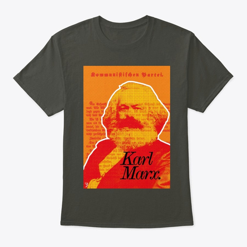 Marx. Smoke Gray T-Shirt Front